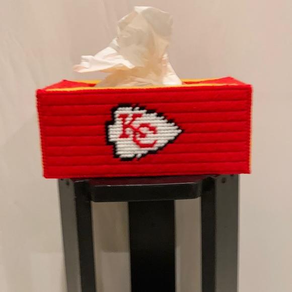 Kansas City Chiefs NFL Tissue Box Cover